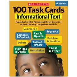 100 Task Cards Informational Text, SC-811299