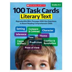 100 Task Cards Literary Text, SC-811300