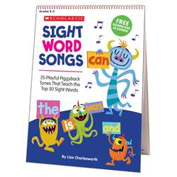 Sight Word Songs Flip Chart & Cd, SC-811313
