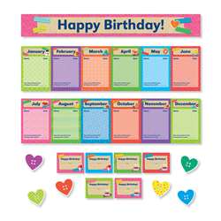 Tape It Up Birthdays Mini Bulletin Board Set, SC-812785
