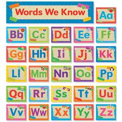 Tape It Up Alphabet Mini Bulletin Board Set, SC-812786