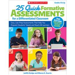 25 Quick Formative Assessments Differentiated Clas, SC-813516