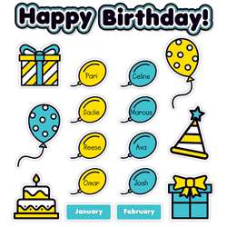 Aqua Oasis Birthday Graph Bulletin Board, SC-823632