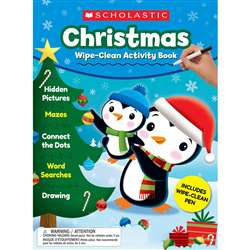Christmas Wipe-Clean Activity Book, SC-831496