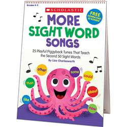 More Sight Word Songs Flip Chart, SC-831710