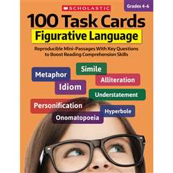 100 Task Cards Figurative Language, SC-860315