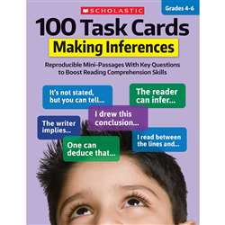 100 Task Cards Making Inferences, SC-860316