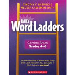 Daily Word Ladders Gr 4-6 Content Areas, SC-862744
