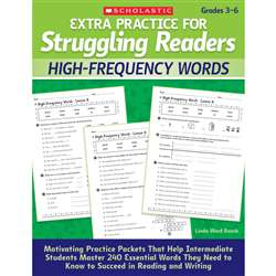Extra Practice For Struggling Readers High Frequency Words By Scholastic Books Trade