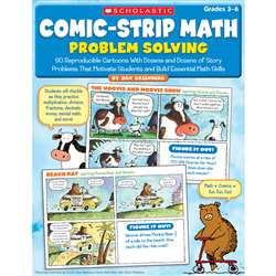 Comic Strip Math Problem Solving Gr 3-6 By Scholastic Books Trade