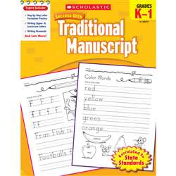 Scholastic Success With Traditional Manuscript Gr K-1 By Scholastic Books Trade