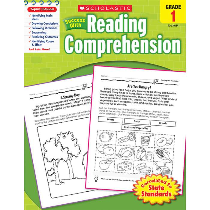 Scholastic Success With Reading Comprehension Gr 1 By Scholastic Books Trade