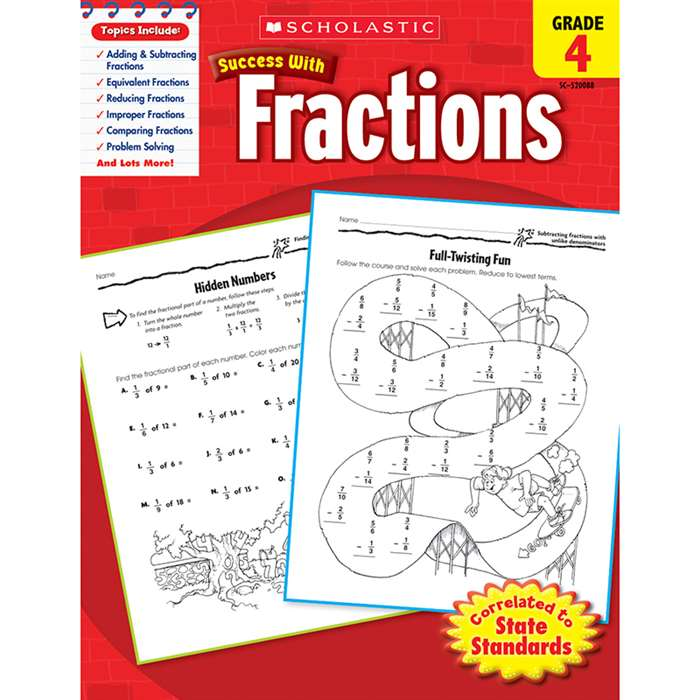 Scholastic Success Fractions Gr 4 By Scholastic Books Trade
