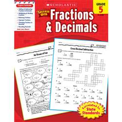 Scholastic Success With Fractions & Decimals Gr 5 By Scholastic Books Trade