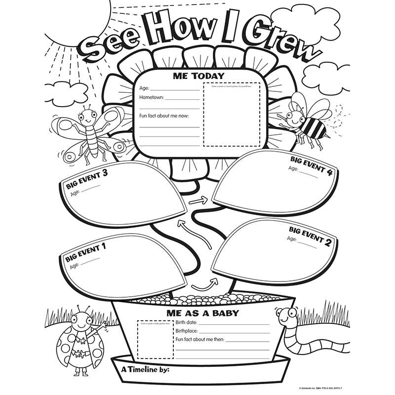 My Timeline Gr K Graphic Organizer Posters By Scholastic Books - Blank world map scholastic