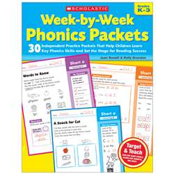 Week By Week Phonics Packets, SC-9780545223041