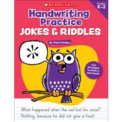 Handwriting Practice Jokes & Riddles, SC-9780545227537