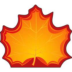 Notepad Large Maple Leaf By Shapes Etc