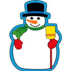 Notepad Large Snowman By Shapes Etc