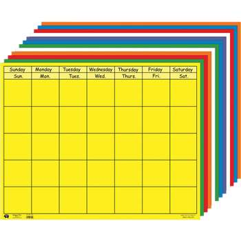 Horizontal Calendar Set 28 X 22 By Shapes Etc