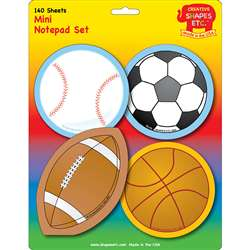 Creative Shapes Notepad Sports Set Mini By Creative Shapes Etc