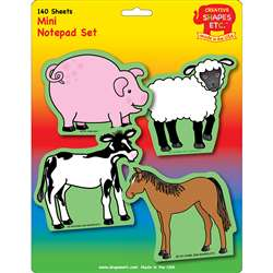 Creative Shapes Notepad Farm Animals Set Mini By Creative Shapes Etc
