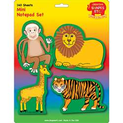 Creative Shapes Notepad Zoo Animals Set Mini By Creative Shapes Etc