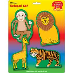 Creative Shapes Notepad Zoo Animals Set Large By Creative Shapes Etc