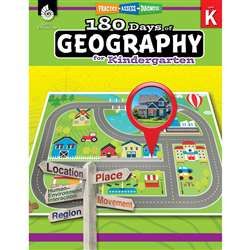 180 Days Of Geography Grade K, SEP28621