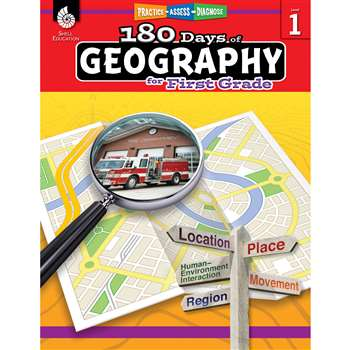 180 Days Of Geography Grade 1, SEP28622