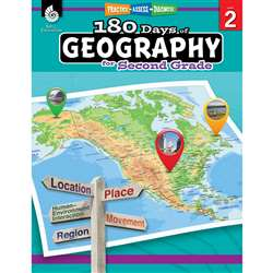 180 Days Of Geography Grade 2, SEP28623