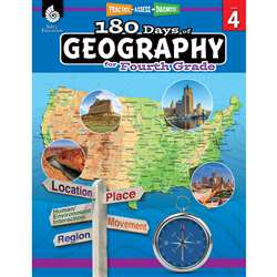 180 Days Of Geography Grade 4, SEP28625