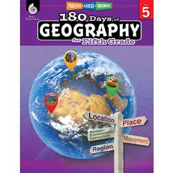 180 Days Of Geography Grade 5, SEP28626