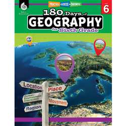180 Days Of Geography Grade 6, SEP28627