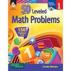 50 Leveled Math Problems Level 1 W/ Cd By Shell Education