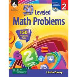 51 Leveled Math Problems Level 2 W/ Cd By Shell Education