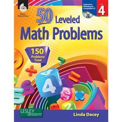 53 Leveled Math Problems Level 4 W/ Cd By Shell Education