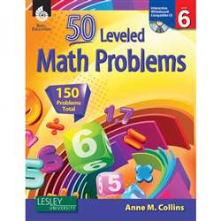 55 Leveled Math Problems Level 6 W/ Cd By Shell Education