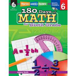 180 Days Of Math Gr 6 By Shell Education