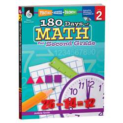 180 Days Of Math Gr 2 By Shell Education
