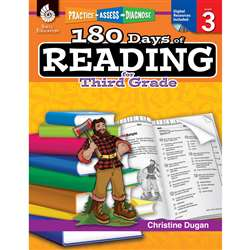 180 Days Of Reading Book For Third Grade By Shell Education