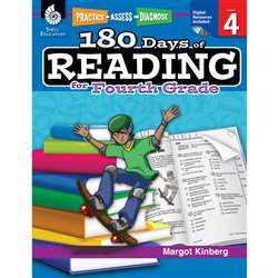 180 Days Of Reading Book For Fourth Grade By Shell Education