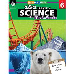 180 Days Of Science Grade 6, SEP51412