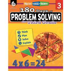 180 Day Problem Solving Gr3 Workbk, SEP51615