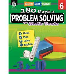 180 Day Problem Solving Gr6 Workbk, SEP51618