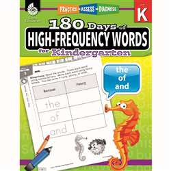 180 Day High Freq Words Gr K Workbk, SEP51633