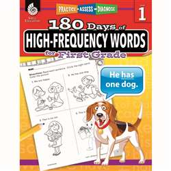 180 Day High Freq Words Gr1 Workbk, SEP51634