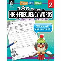 180 Day High Freq Words Gr2 Workbk, SEP51635