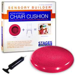 Active Attention Chair Cushion Red Sensory Builder, SLM2102