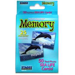Sea Life Photographic Memory Matching Game, SLM222